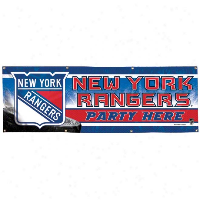Unaccustomed York Rangers 2x6 Vinyl Banner