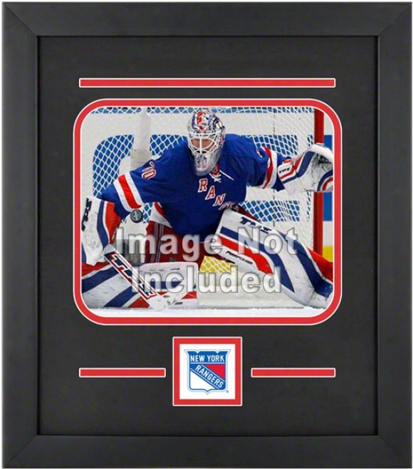New York Rangers 8x10 Horizontal Setup Frame With Team Logo