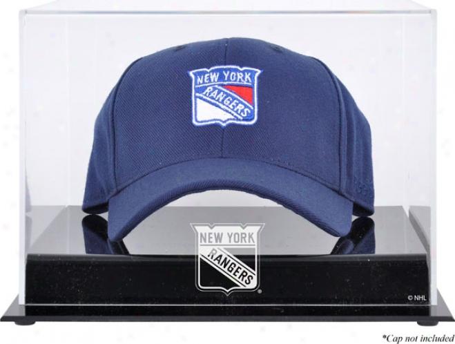 New York Rangers Acryiic Cap Logo Display Case