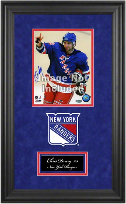 New York Rangers Deluxe 8x10 Team Logo Frame