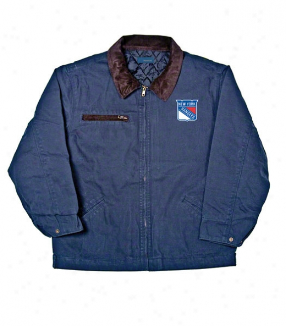 New York Rangers Jacket: Blue Reebok Tradesjan Jacket