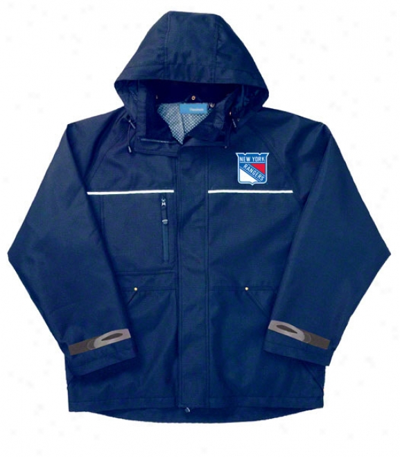 New York Rangers Jacket Blue Reebok Yukon Jacket