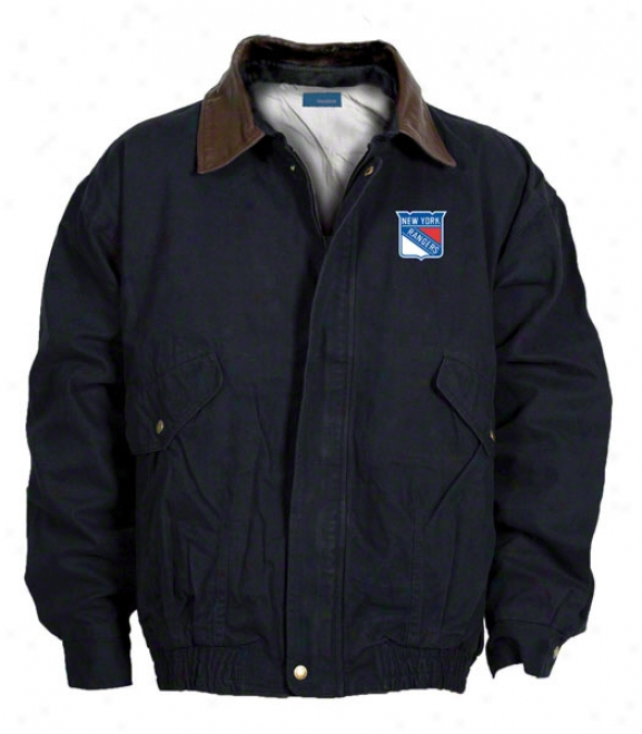 New York Rangers Jacket: Navy Reebok Navigtaor Jacket