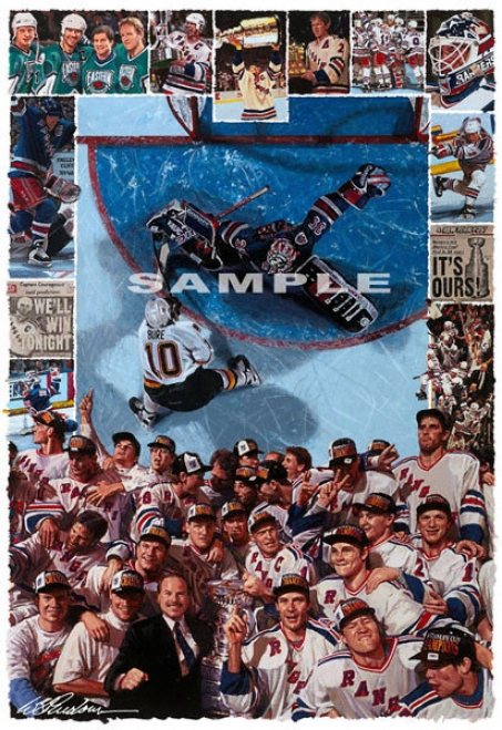 New York Rangers - &quotit's Ours&quot - Wall - Unframed Giclee
