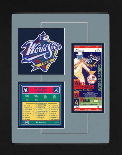 New York Yankees 1999 World Sedies Replica Ticket & Patch Frame