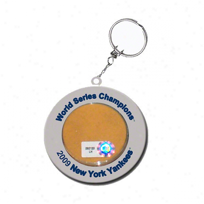 New York Yankees 2009 World Series Champions Game Used Stadiuum Dirt Keychain