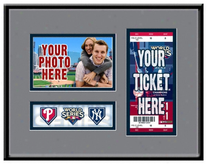 New York Yankees 2009 World Series Game Day Ticket Frame