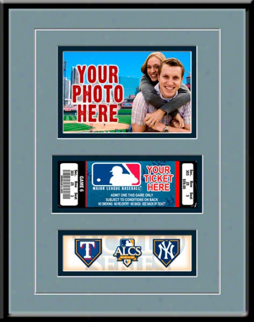 New York Yankees 2010 Amrican League Championship Series Photo & Ticket Frame