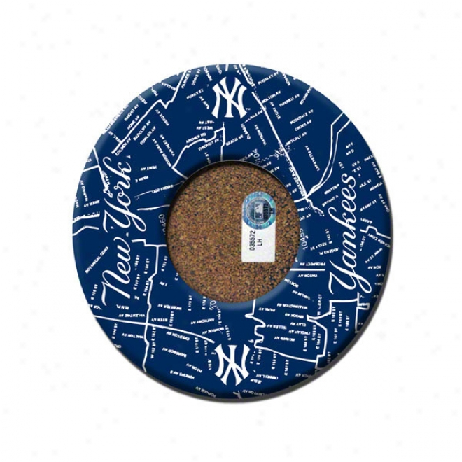 New York Yankees 4 Pack Bronx Map Coaster Set With Game Used Dirt