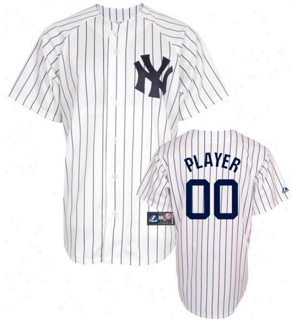 Nee York Yankees -any Player- Home Mlb Replica Jersey