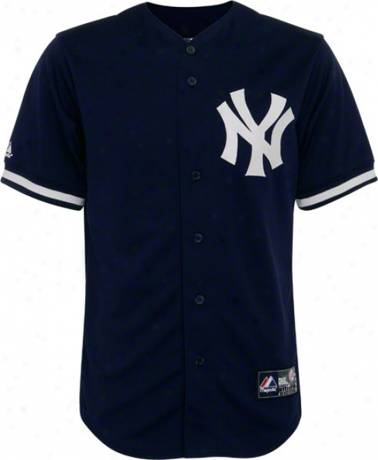 New York Yankees Authentic Assemblage Primary Disguise Navy Jersey