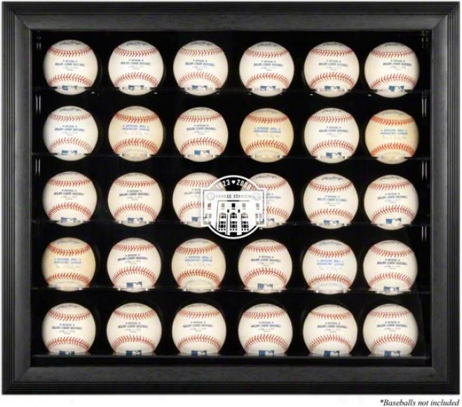 New York Yankees Black Framed 30-ball Yankees Final Season Logo Display Case