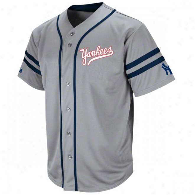New York Yankees Cooperstown Grey Heater Fashion Jersey