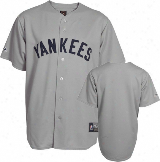 New York Yankees Cooperstown Grey Replica Jersey