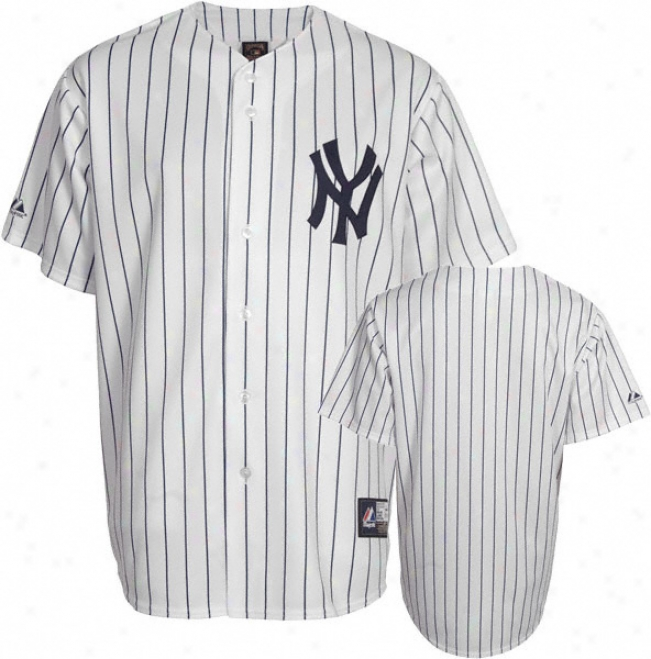 New York Yankees Cooperstown White/navy Replica Jersey