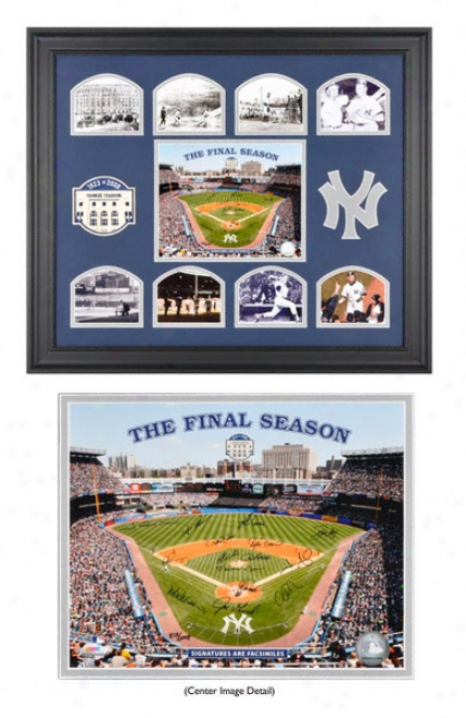 New York Yankees Framed Collage With Final Season Tract