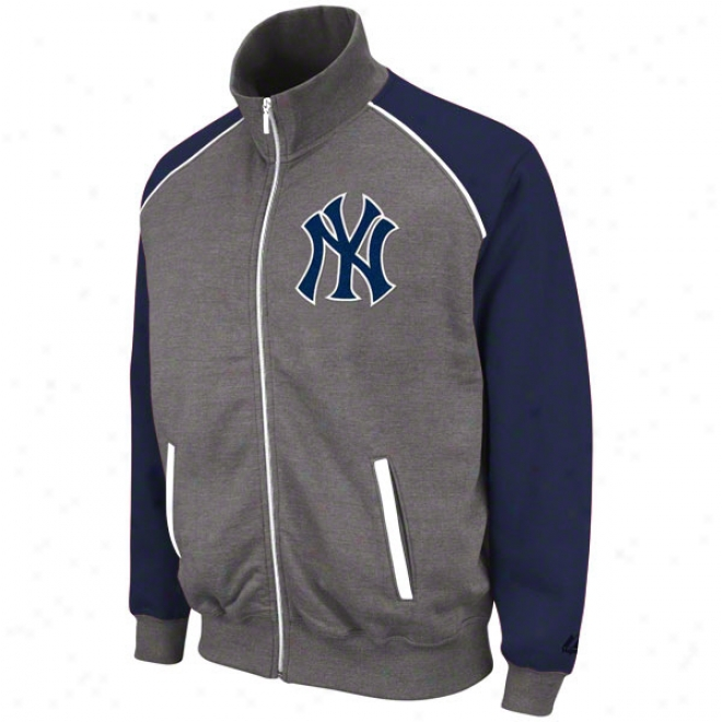 New York Yankees Granite Fabulous Full-zip Track Jackte