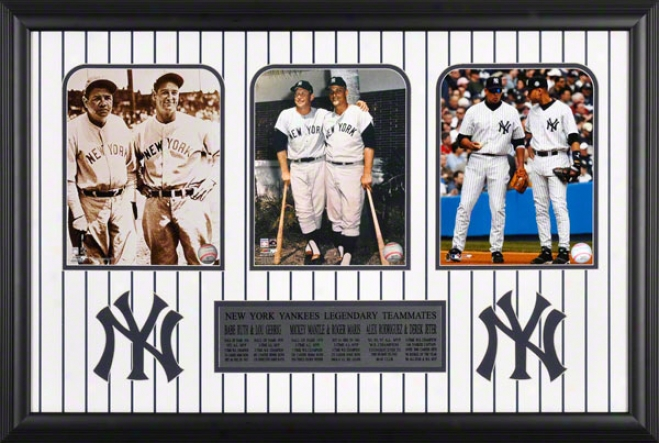 New York Yankees Legendary Teammates Framed Unsigned 8x10 Photographs