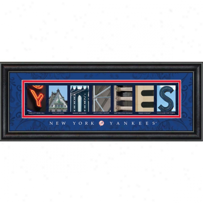 New York Yankees Letter Art