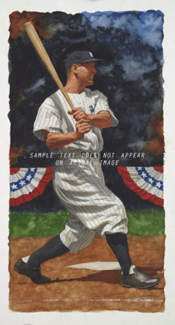 New York Yankees - &quotgehrig&quot - Large - Unframed Giclee