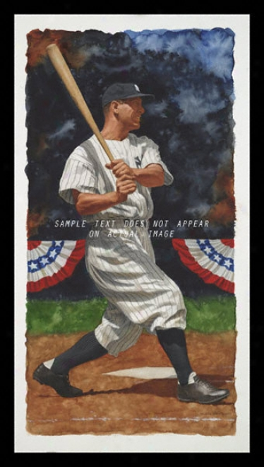 New York Yankees - &quotgehrig&quot - Oversized - Framed Giclee