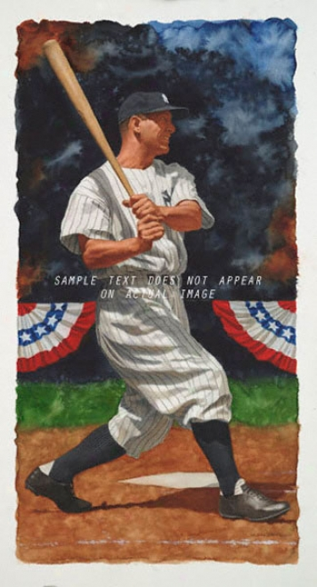 New York Yankees - &quotgehrig&quot - Wall - Unframed Giclee
