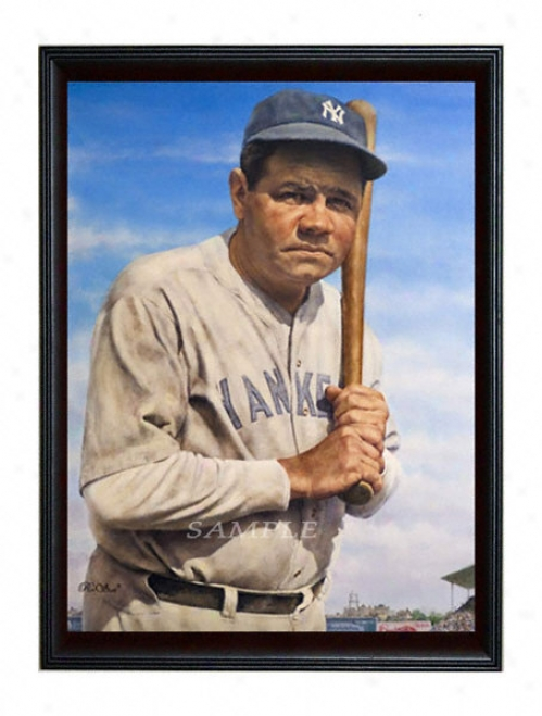 New York Yankees - &quotthe Bambino&quot - Large - Framed Giclee