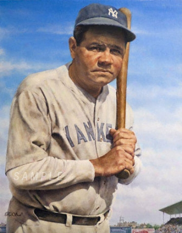 New York Yankees - &quotthe Bambino&quot - Wall - Unframed Giclee