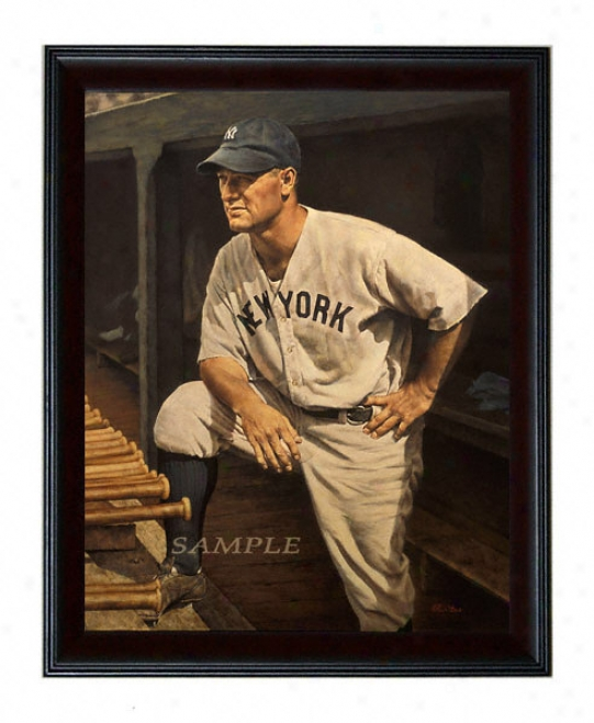 New York Yankees - &quottbe Iron Horse&quot - Oversized - Framed Giclee