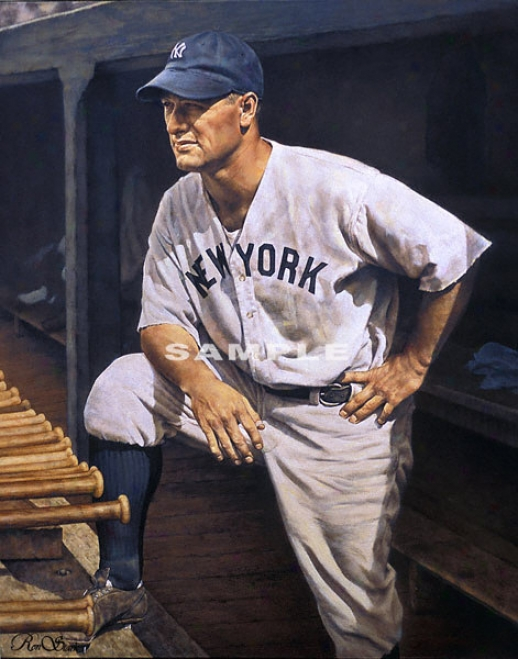 New York Yankees - &quotthe Iron Horse&quot - Wall - Unframed Giclee