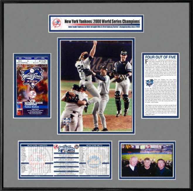 New York Yankees - Team Celebration - 2000 World Series Ticket Frame
