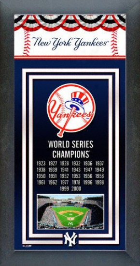 New York Yankees World Series Framed Team Championship Series