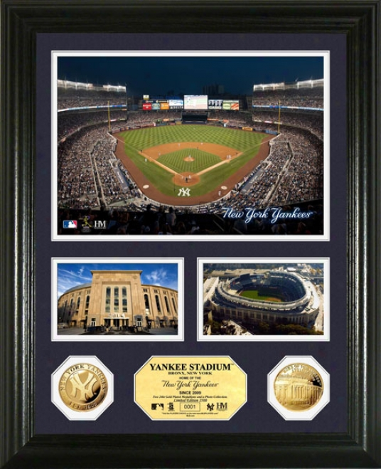 New York Yankees Yankees Stadium 24kt Gold Coin Photo Mint
