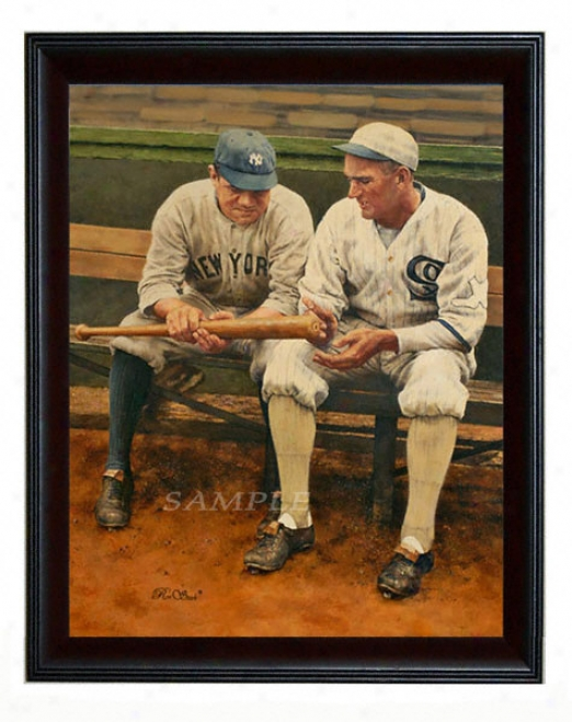 New York Yankees/chicago White Sox - &quotshoeless Babe&quot - Oversized-  Framed Giclee