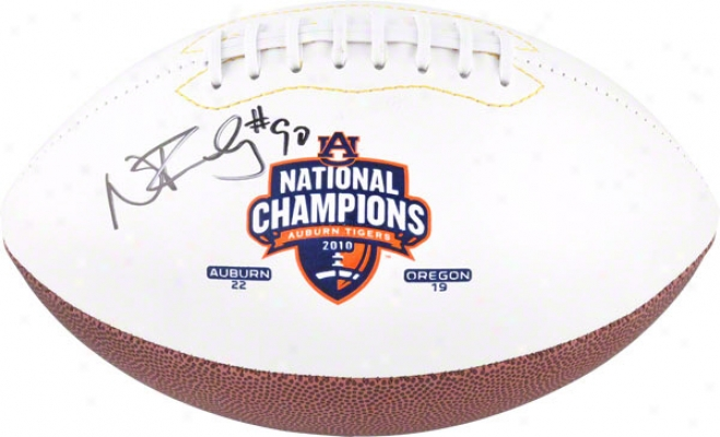 Nick Fairley Auburn Tigers Autographed White Panel Auburn National Champion sFootball