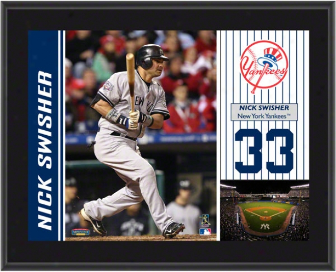 Nick Swisher Plaque  Particulars: New Yrk Yankees, Sublimated, 10x13, Mlb Plaque