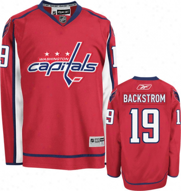 Nicklas Backstrom Jersey: Reebok Red #19 Washington Capitals Premier Jerqey