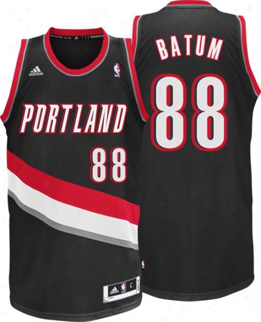 Nicolas Batum Jersey: Adidas Black Swingman #88 Portlznd T5ail Blazeds Jersey