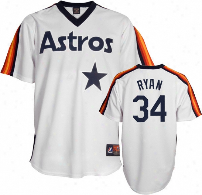 Nolan Ryan Houston Astros Cooperstown Replica Jersey