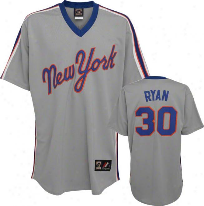 Nolan Ryan Majestic Throwback Replica New York Mets Jersey
