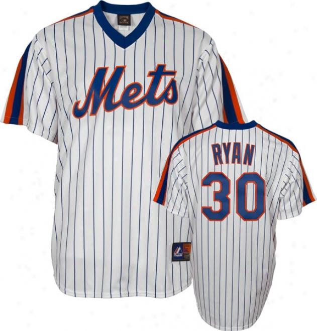 Nolan Ryan New York Mets Pinstripe Cooperstown Autograph copy Jersey