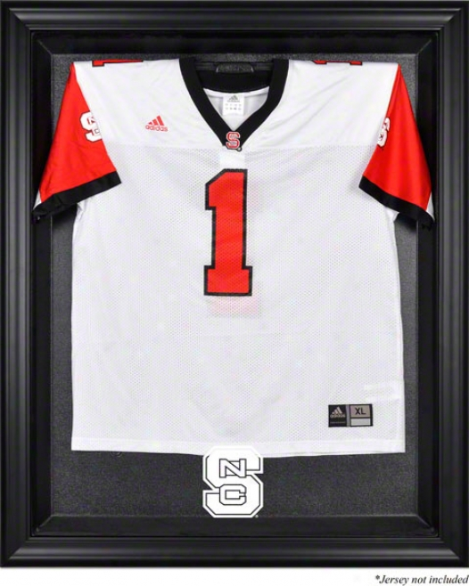 North Carolina State Wolfpack Framed Logo Jersey Display Case
