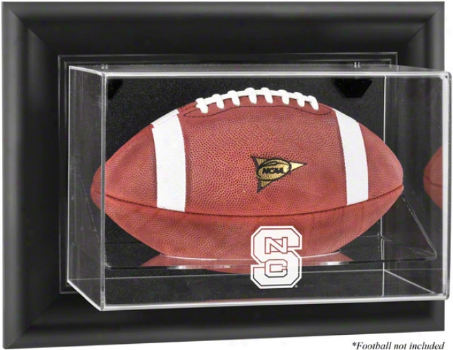 North Carolina State Wolfpack Framed Wall Mounted Logo Football Display Case