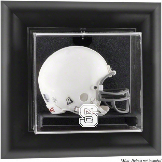 North Carolina State Wolfpack Framed Wall Mounted Logo Mini Helmet Display Case