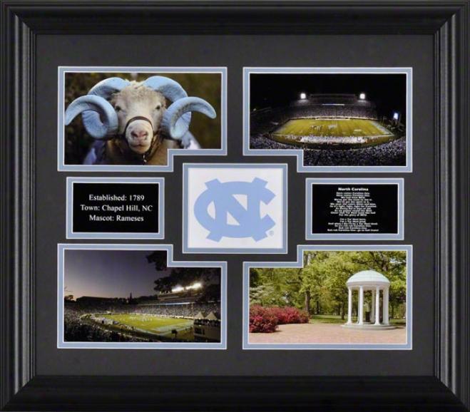 North Carolina Tar Heels Framed 4-photograph Collage