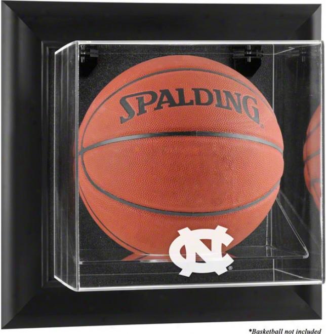 North Carolina Tar Heels Framed Wall Mounted Logo Basketball Display Case