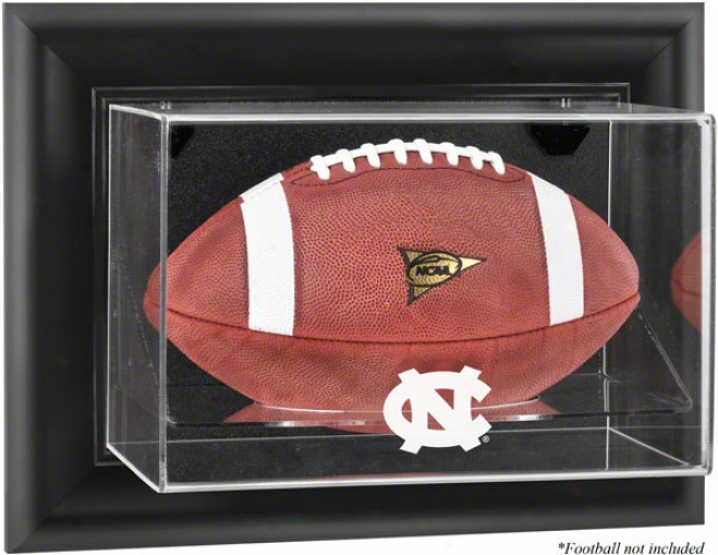 North Carolina Tar Heels Framed Wall Mounted Logo Football Display Case
