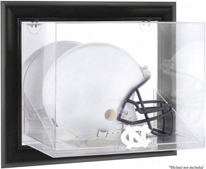 North Carolina Tar Heels Framed Wall Mounted Logo Helmet Displayy Case