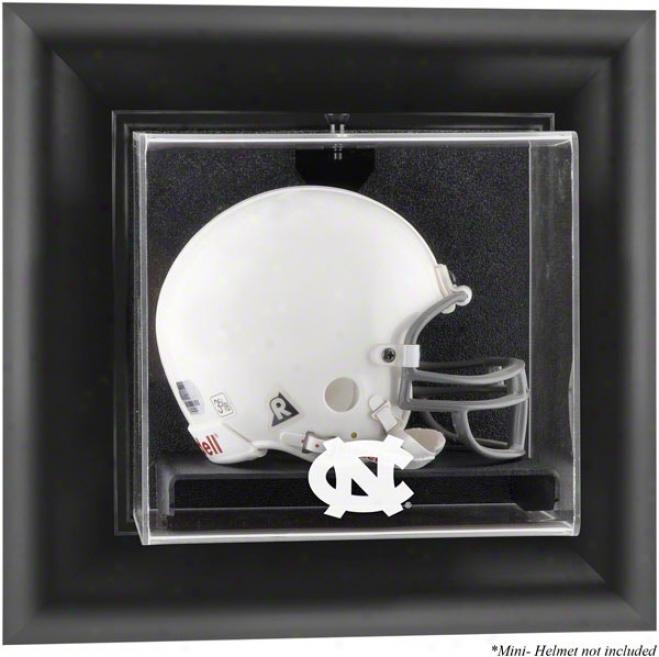 North Carolina Tar Heels Framed Wall Mounted Logo Mini Helm Display Case