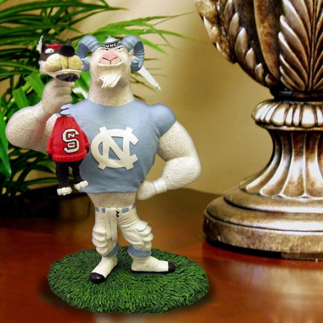 North Carolina Tar Heels Lester Single Choke Rivalry Figurine